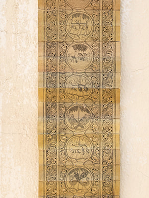 TalaPattrachitra Scroll Painting on Palm Leaf - Birds & Animals