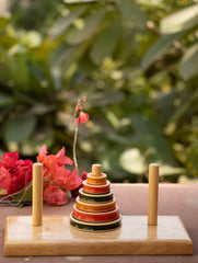 Tower of Hanoi - Wooden Pyramid Puzzle