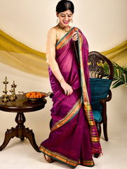 Traditional elegance. Fine Ilkal Saree