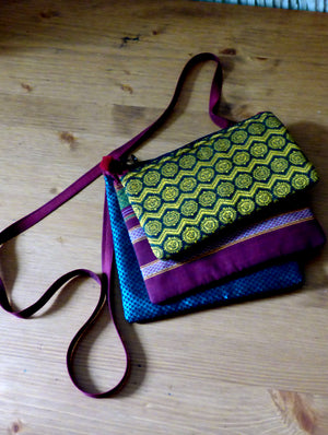 Tri-layered, Multi-Pouch Sling Bag