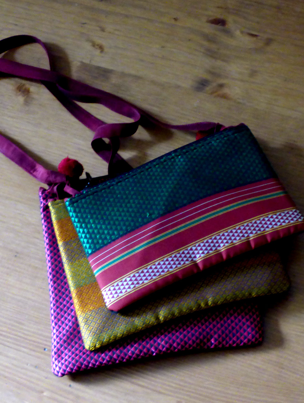 Tri Layered Multi Pouch Sling Bag The India Craft House