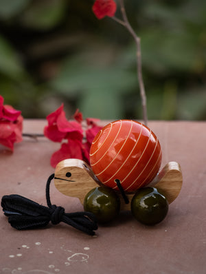 Tuttu Turtle - Wooden Pull Toy