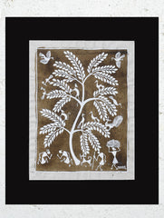 "Warli Painting With Mount (Medium) - Village Scene (12""x10"")"