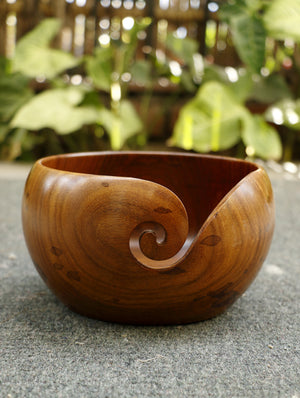 Wood Carving Craft - Yarn Bowl - Large