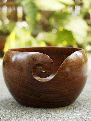 Wood Carving Craft - Yarn Bowl - Small
