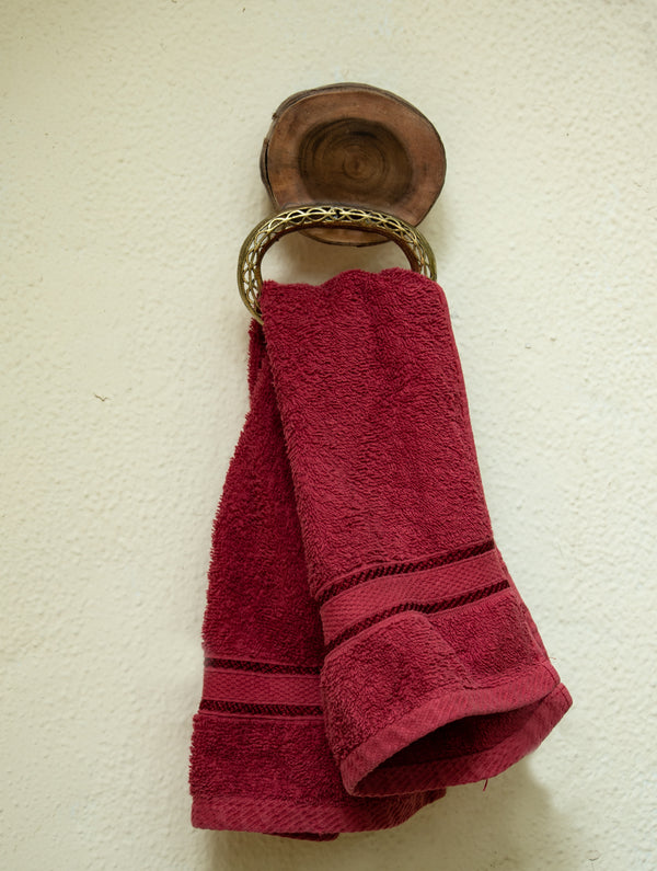 Wood & Dhokra Craft Hand Towel Hanger - The India Craft House