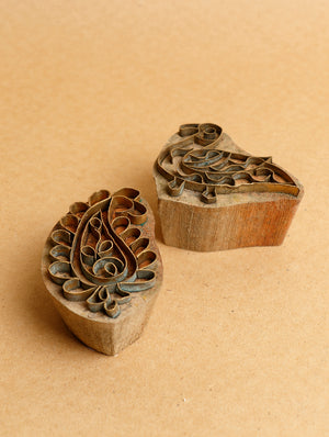 Wood with Brass Printing Blocks