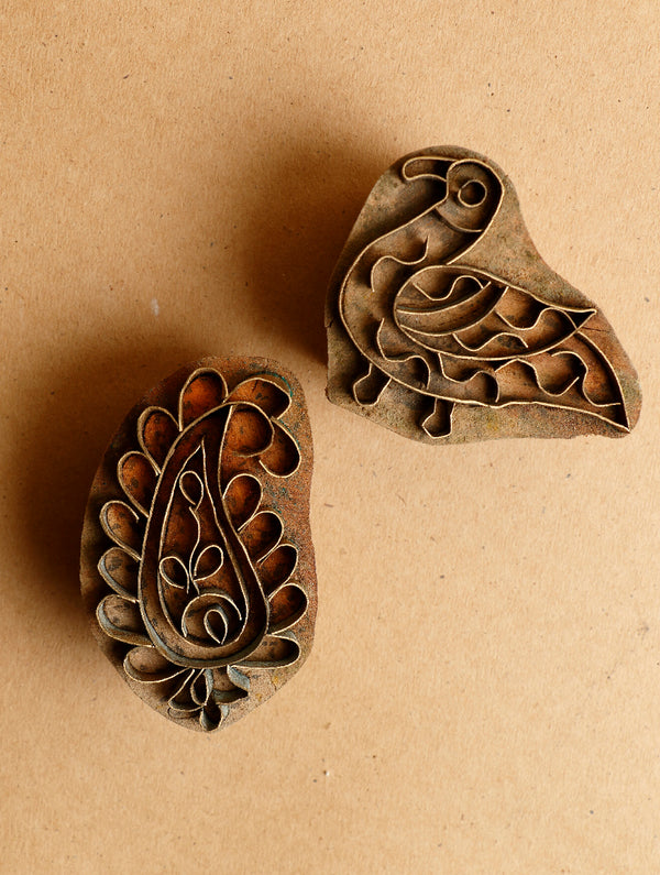 Wood with Brass Printing Blocks - The India Craft House