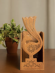 Wooden Jaali Stationery Holder