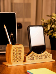 Wooden Jaali Stationery / Paper Holder