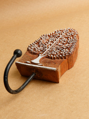 Wooden Carved Wall Hook