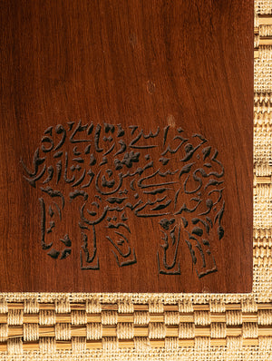 Wooden Engraved Clipboard - Elephant Motif - The India Craft House