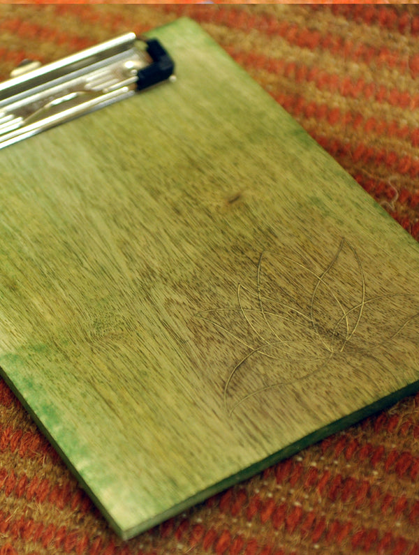 Wooden Engraved Clipboard, Small - The India Craft House