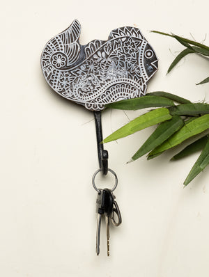Wooden Engraved Wall Hook - Fish Motif
