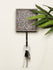 Wooden Engraved Wall Hook - Floral Motif - The India Craft House
