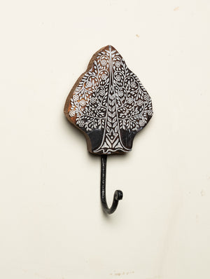 Wooden Engraved Wall Hook - Tree Motif