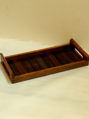 Wooden Panel Tray, Long