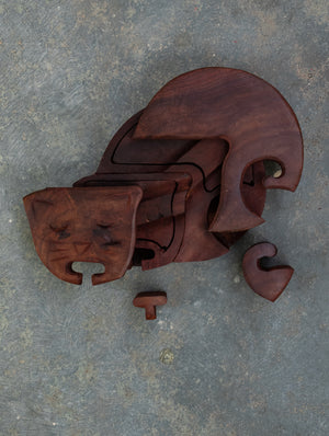 Wooden Jigsaw Puzzle - Cat. An interesting and unique recreational activity for young minds.