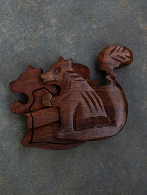 Wooden Jigsaw Puzzle - Squirrel. An interesting and unique recreational activity for young minds.