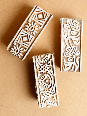 Wooden Carved Printing Blocks - The India Craft House