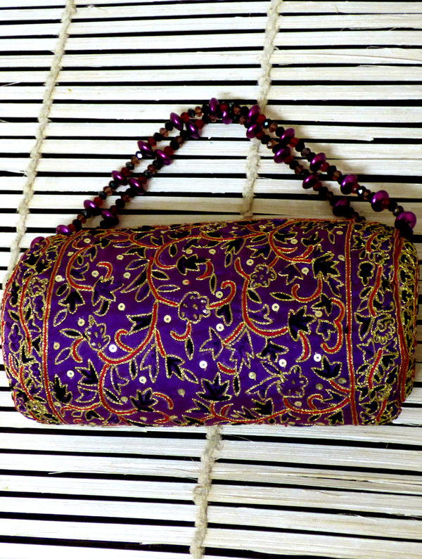 Zardozi Evening Bag - Small - The India Craft House