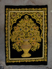 Zardozi Resham Embroidered Wall Hanging