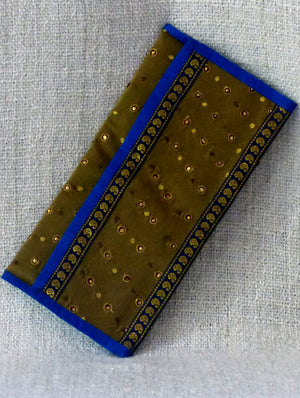 Zardozi on Silk Clutch Bag