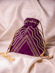 Zardozi and Resham Embroidered Evening Potli Bags