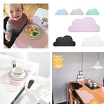 Silicone Placemat 47x27cm FDA  Bar Mat Baby Kids Cloud Shaped Plate Mat