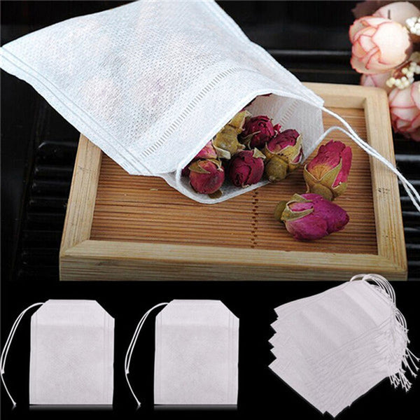 100Pcs/Lot Teabags 5.5 x 7CM Empty Scented Tea Bags With String Heal Seal Filter Paper for Herb Loose