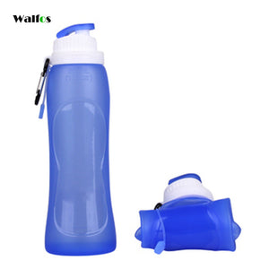 500ML Creative Collapsible Foldable Silicone drink Sport Water Bottle