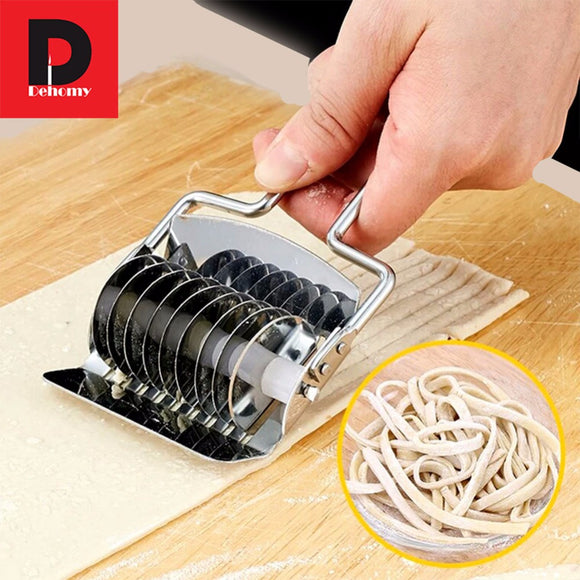 Dehomy Manual Noodle Makers Stainless Steel Section Non-slip Handle Pressing Noodles Cut Knife Shallot Cutter Spaetzle Makers