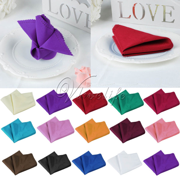 30cmX30cm Table Napkin Linen Napkin Polyester Handkerchief Cloth