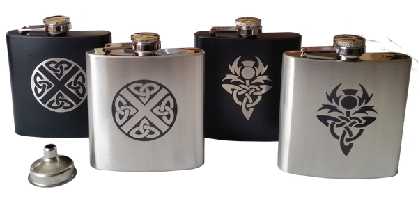 6oz Hip Flask Collection from Art Pewter