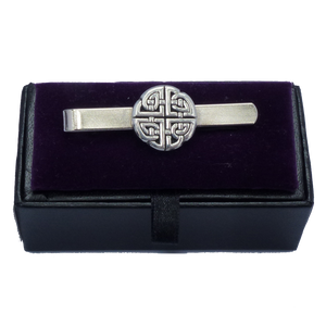 Pewter Round Celtic Knot Tie Slide