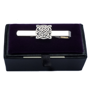 Pewter Square Celtic Knot Tie Slide