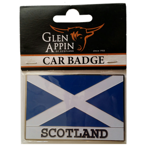 Saint Andrews Flag Scotland Car Badge