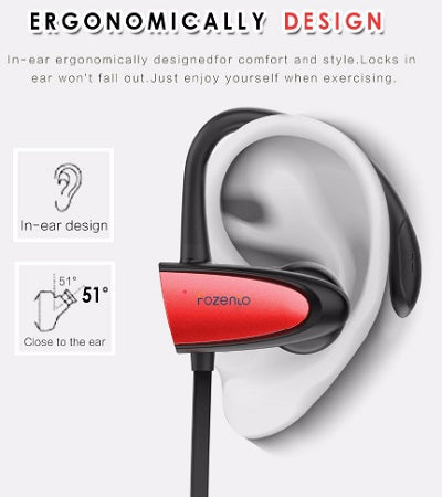 n-Ear Stereo Wireless Earphone FOZENTO Sports Bluetooth Earbuds Bluetooth 4.2 Wireless Earphone Headset For All Phone