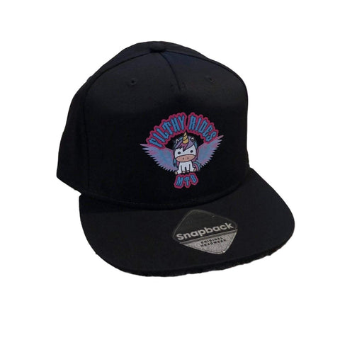 SNAPBACK CAP - BLACK PEAK - UNICORN WINGS