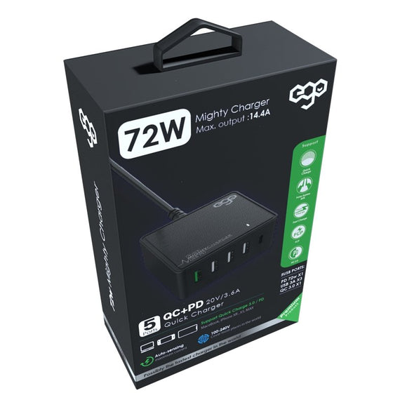 EGO 72W Mighty 拖線充電器 EGO 72W Mighty cable charger - UNWIRE STORE