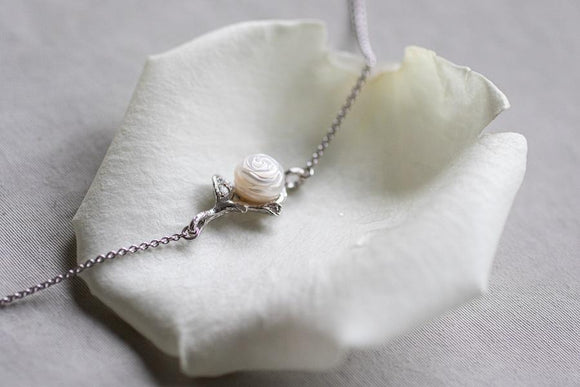 Heting Artelier 純愛 ‧ 無限 白玫瑰珍愛系列手鏈 The Loving White Rose Collection - UNWIRE STORE