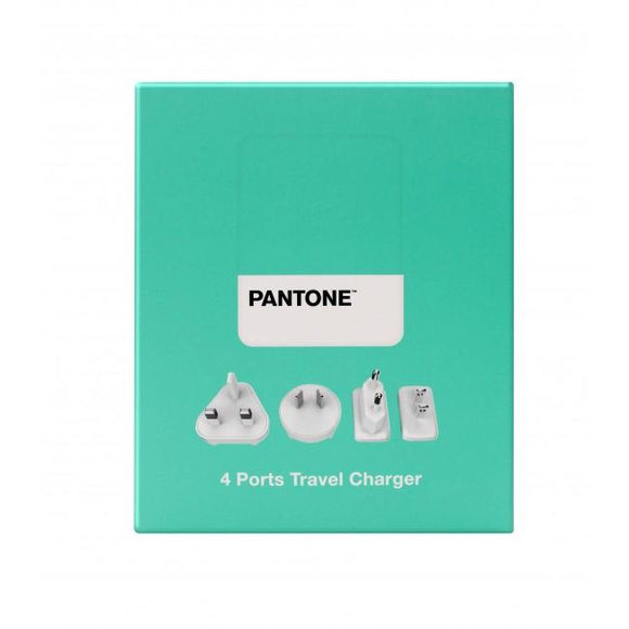 Travel Charger 4 Ports 4.8A Aqua Pantone 旅行充電器 - UNWIRE STORE - HONG KONG