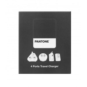 Travel Charger 4 Ports 4.8A Grey Pantone 旅行充電器 - UNWIRE STORE - HONG KONG
