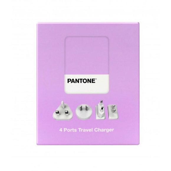 Travel Charger 4 Ports 4.8A Purple Pantone 旅行充電器 - UNWIRE STORE - HONG KONG