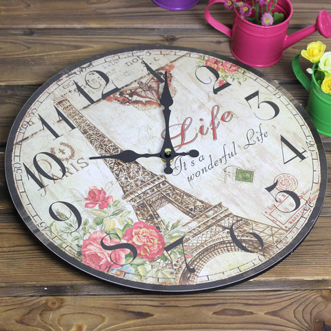 Paris Eiffel tower wall clocks