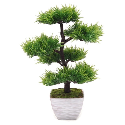 Five layer needle pine artificial pot plant