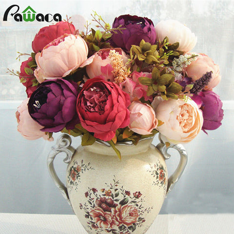 European artificial silk flowers