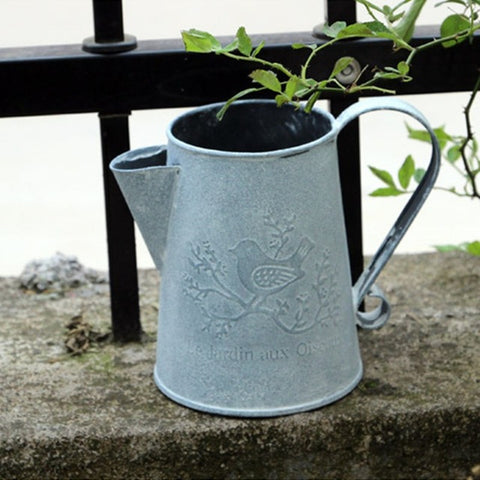 Flowers bucket barrel metal vase