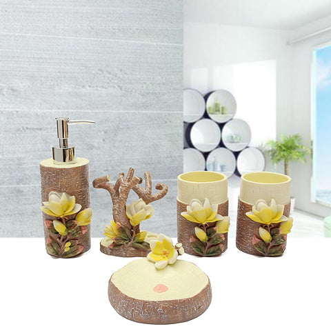 3D Magnolia bathroom gift set