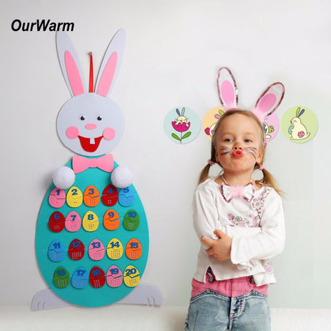 Easter puzzle decoration